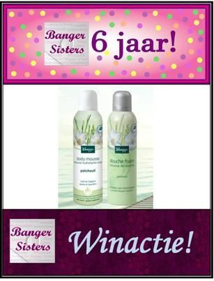 30. Banger Sisters 6 jaar! Win een Kneipp Patchouli pakket!