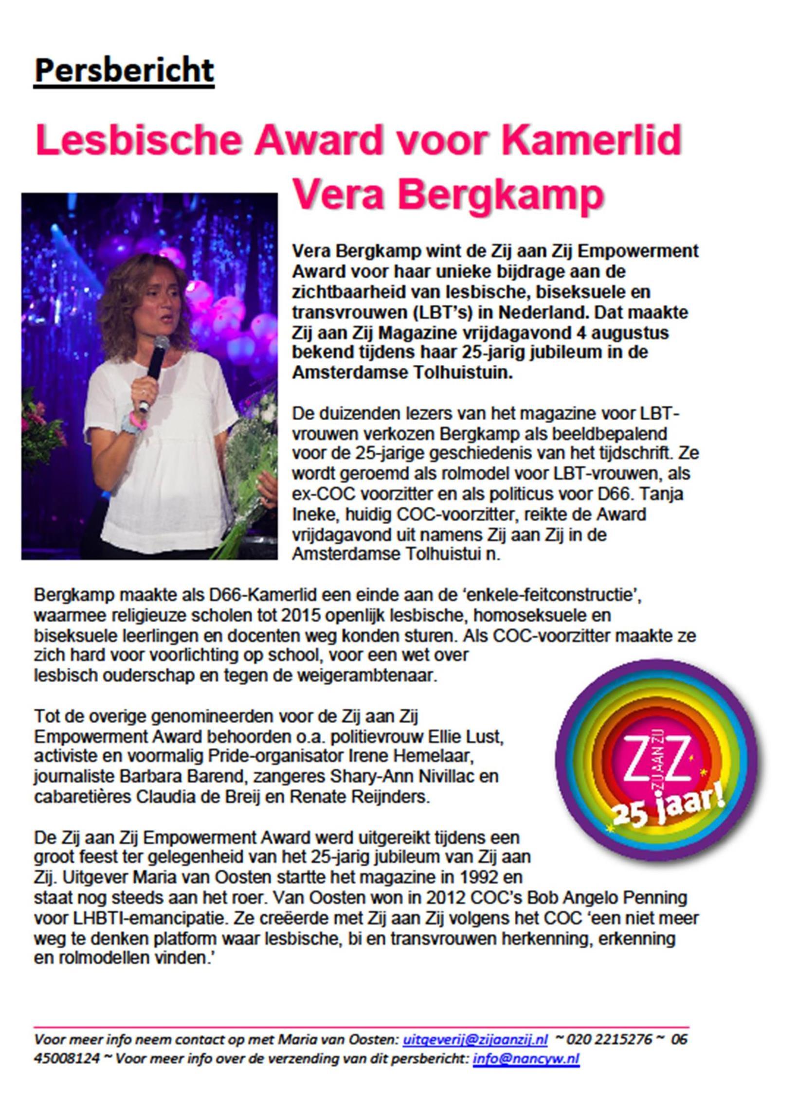 persbericht-zij-aan-zij-25-jaar-award-vera-bergkamp