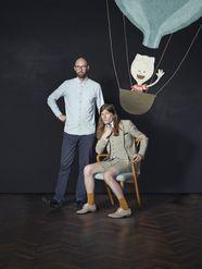 Schrijver Jeroen Aalbers en illustrator Stefan Tijs