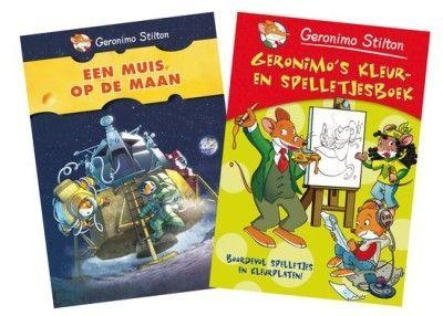 Vakantiepakket Geronimo Stilton- Een muis op de maan & Geronimo's kleur- en spelletjesboek