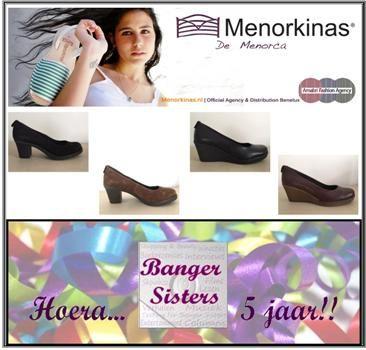 23. Banger Sisters 5 jaar! Win een paar mooie pumps van Menorkinas!