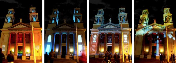 Irma de Vries – Mozes & Aaronkerk – videomapping projectie tbv Amsterdam Light Festival 2014