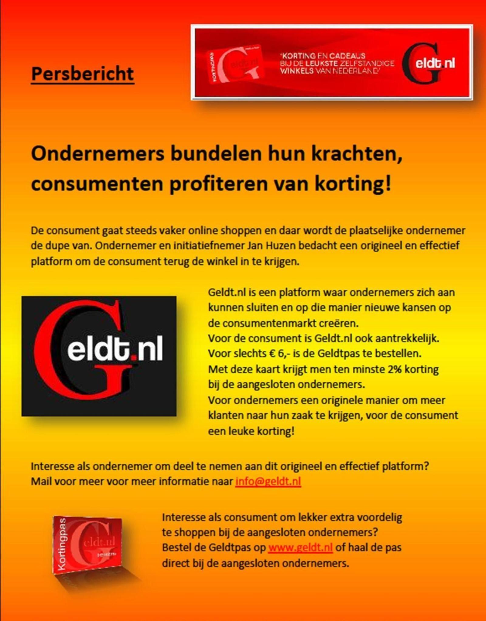 Persbericht Geldt.nl 2